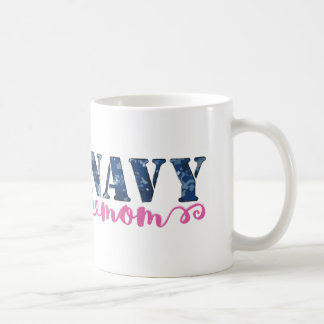 Navy Mom Camo Basic White Mug