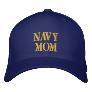 Navy Mom Embroidered Hats