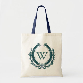 Navy Monogram Tote Bag