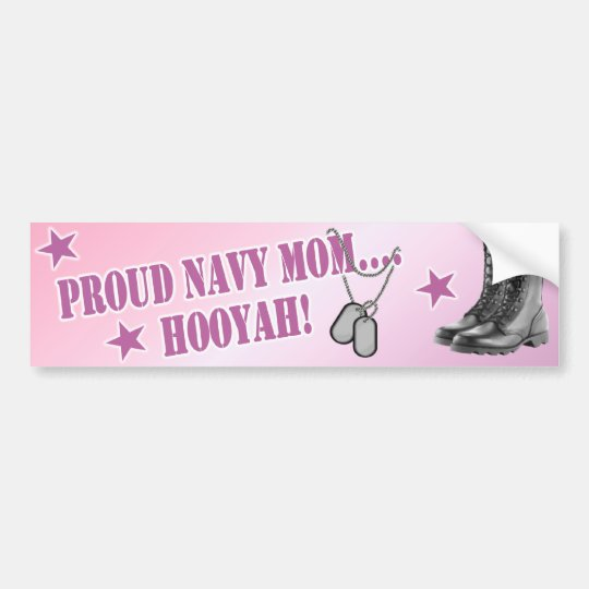Navy Mum Bumper Sticker