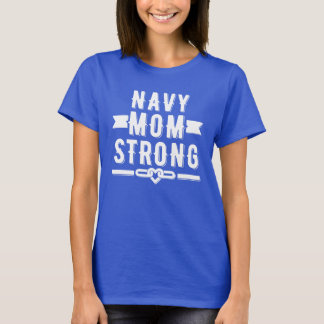 Navy mum strong women's graphic T-Shirt