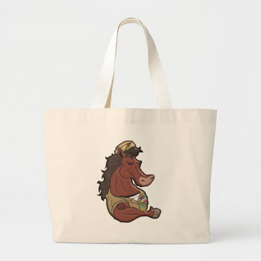 Navy Mustang Canvas Bags