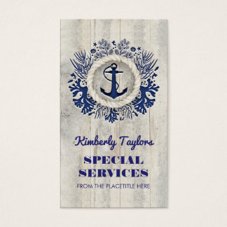 Navy Nautical Anchor Rustic Driftwood