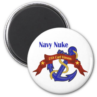 Navy Nuke ~ USS Carl Vinson 6 Cm Round Magnet