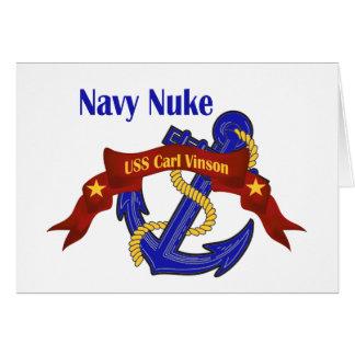 Navy Nuke ~ USS Carl Vinson Greeting Card