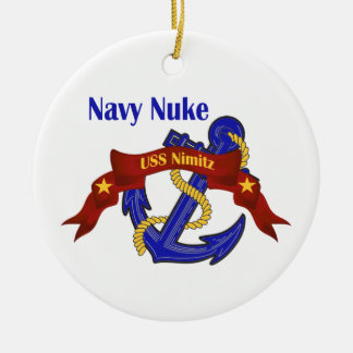 Navy Nuke USS Nimitz Christmas Ornament