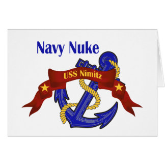 Navy Nuke ~ USS Nimitz Greeting Card