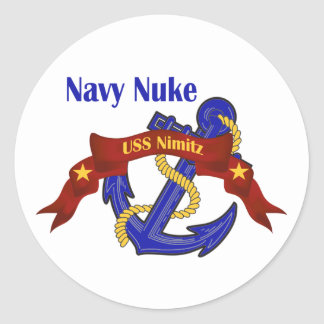 Navy Nuke ~ USS Nimitz Round Sticker