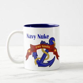 Navy Nuke ~ USS Nimitz Two-Tone Coffee Mug