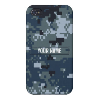 Navy NWU Camouflage Customizable iPhone 4 Cover