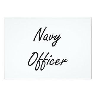 Navy Officer Artistic Job Design 13 Cm X 18 Cm Invitation Card
