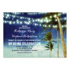 navy ombre beach wedding invitations