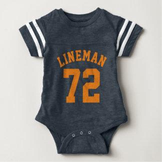 Navy & Orange Baby | Sports Jersey Design T Shirts