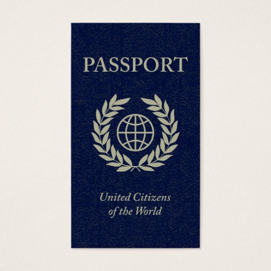 navy passport business card