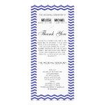 Navy Perfect Chevron/Zig Zag Wedding Program Personalized Rack Card