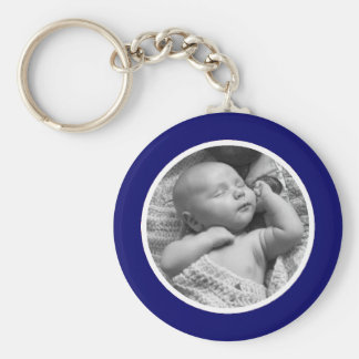 Navy Photo Keychain