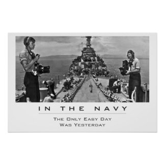 Navy Photogs at Work Poster
