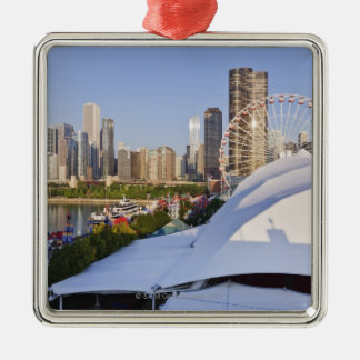 Navy Pier and Downtown Chicago Christmas Ornament
