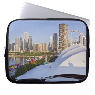 Navy Pier and Downtown Chicago Laptop Sleeve
