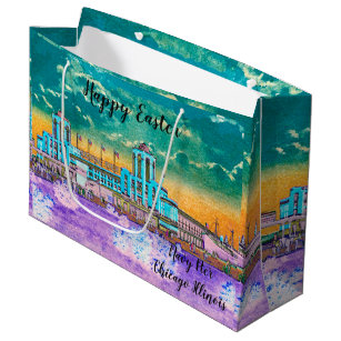 The 1920s gift bags zazzle navy pier chicago 1920s watercolor easter colours large gift bag negle Images