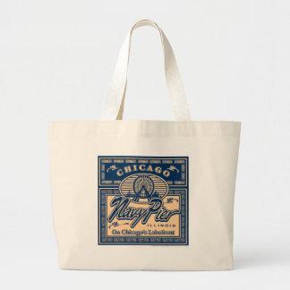 Navy Pier Chicago Jumbo Tote Bag