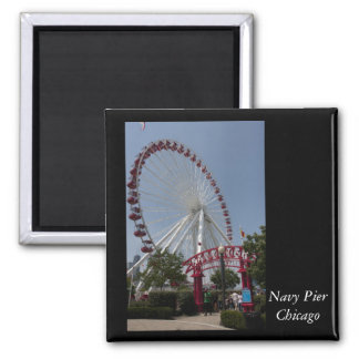 Navy Pier,  Chicago Square Magnet