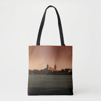 Navy Pier in Color- tote bags