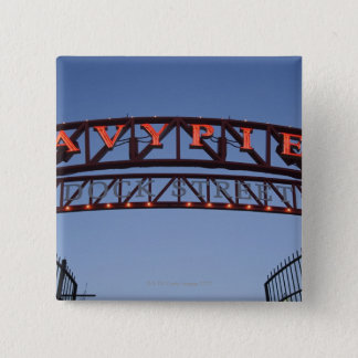 Navy Pier sign in Chicago Illinois USA 15 Cm Square Badge
