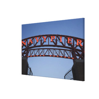 Navy Pier sign in Chicago Illinois USA Canvas Print