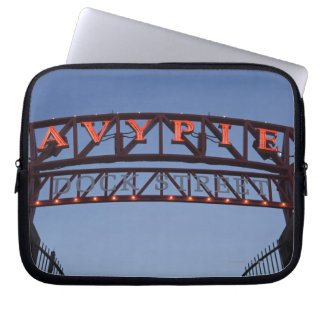 Navy Pier sign in Chicago Illinois USA Laptop Sleeve