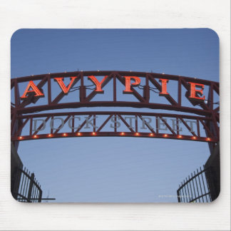 Navy Pier sign in Chicago Illinois USA Mouse Mat