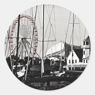 Navy Pier's Ferris Wheel Round Sticker