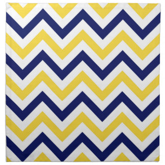 Navy, Pineapple, Wht Large Chevron ZigZag Pattern Napkin