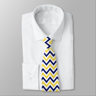 Navy, Pineapple, Wht Large Chevron ZigZag Pattern Tie