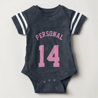 Navy & Pink Baby | Sports Jersey Design Infant Bodysuit