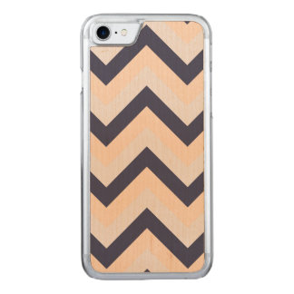 Navy Pink Wedding Colors Modern Chevron Pattern Carved iPhone 8/7 Case