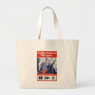 Navy Production World War 2 Tote Bag