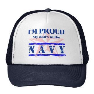 navy proud - dad cap