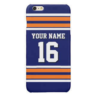Navy Pumpkin Orange Team Jersey Custom Number Name iPhone 6 Plus Case