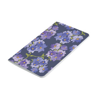 Navy & Purple Floral Pattern Pocket Journal