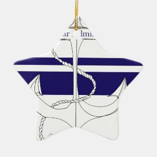 navy rear admiral, tony fernandes ceramic star decoration
