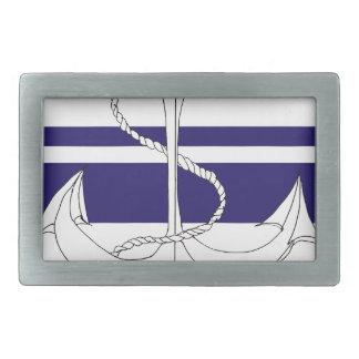 navy rear admiral, tony fernandes rectangular belt buckle