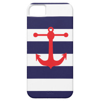 Navy Red Nautical Pattern iPhone 5 Case