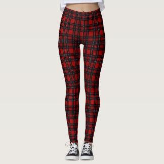 (navy & red plaid) leggings