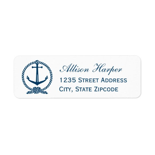 Navy Return Address Labels | Nautical Theme