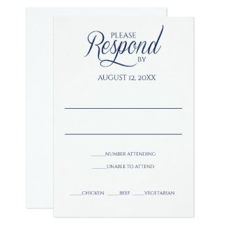 Navy RSVP Response Card Template