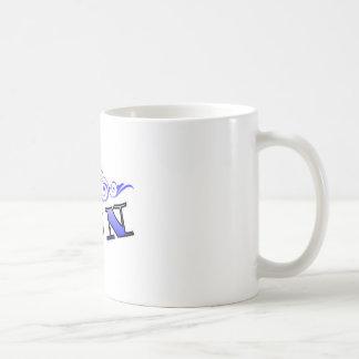 Navy Scroll Basic White Mug