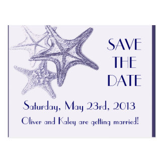 "navy sea star ""save the date"" postcard"