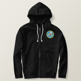 Navy Seabee Embroidered Hoodie