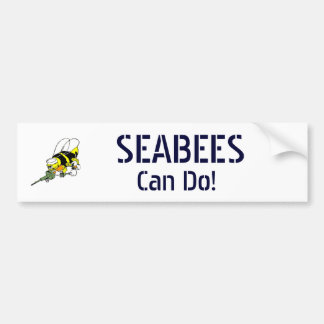 Navy Seabees Can Do! Bumper Sticker